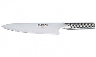 Global G-61 Coltello da cucina con lama alveolata